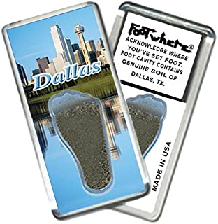 "product image for Dallas ""FootWhere"" Fridge Magnet. Made in USA (DL201 - Skyline)"