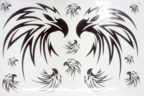 SHT Eagle Head - Black Racing Bike Car Bumper Stickers Decals