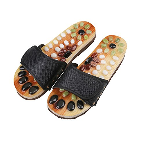 769c64d544b4 Romonacr Massage Slippers Foot Massage Romonacr Massage Slippers Foot  Massager Shoes Shiatsu Relax Sandals With Natural