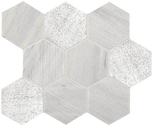 American Olean Tile M1094HEXMS1P Ascend Stone 4 inch Hex Mosaics Ascend Stone 4 inch Hexagon Mosaics Tile,, 12