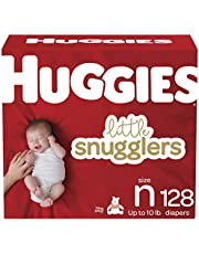 Newborn Diapers - Huggies Little Snugglers Disposable Baby Diapers, 128ct, Giant Pack