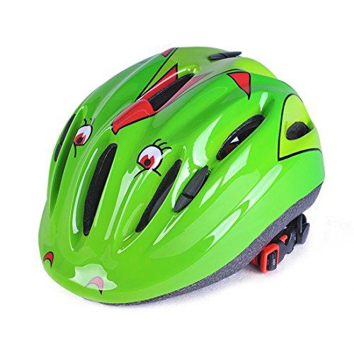 RuiyiF Kids Bike Helmet,Cycling Riding Sports Helmet for kids - Green