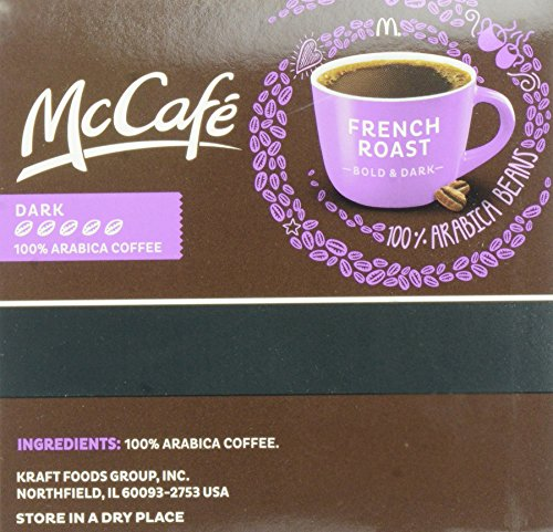 MCCAFE French Roast Coffee, K-CUP PODS, 12 Count