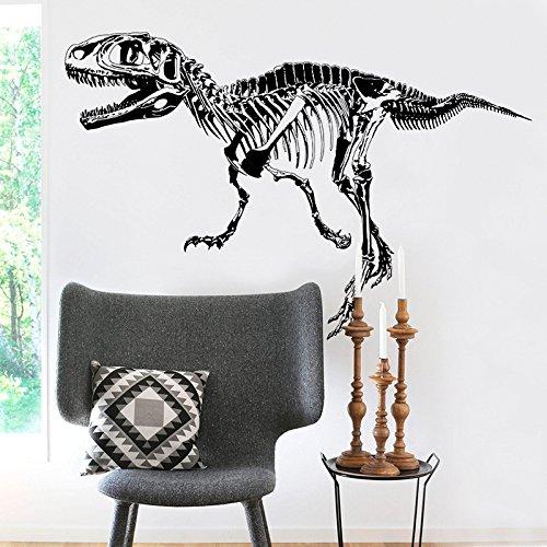 Amaonm Removable Creative Black Vinyl Dinosaur Sketch Wall Decals 3D Dinosaurs Wall art Decor Wall Stickers Murals Kids Room Boys Girls Bedroom Living room Bathroom Decorations Decal (Design 3)