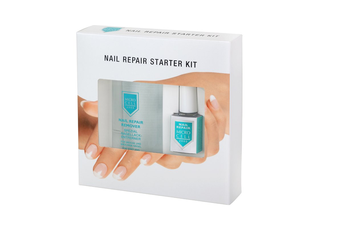Micro Cell Nail Repair Starter Kit with Nail Repair and Remover by Parico Cosmetics