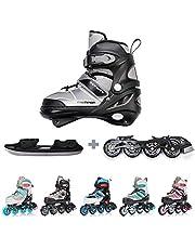 meteor® Inline Skates voor Kinderen Jeugd Volwassen - Ideaal voor Jongens en Meisjes - Instelbare Maat