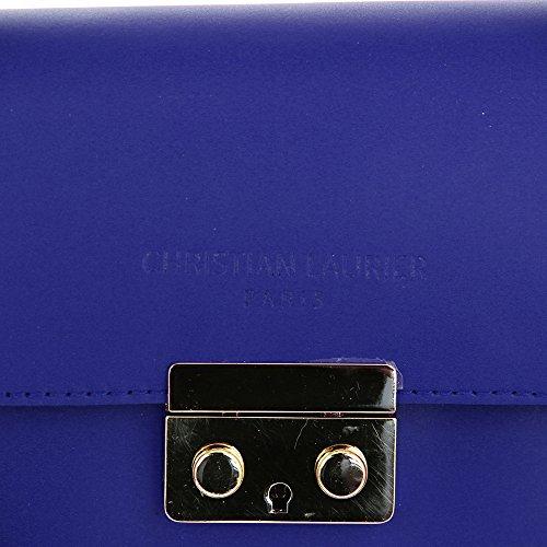 Christian Laurier - Sac à main en cuir modèle Kylie bleu électrique - Sac à main haut de gamme fabriqué en Italie