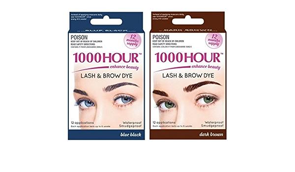 Combo Pack. 1000 Hour Eyelash & Brow Dye/Tint Kit Permanent ...