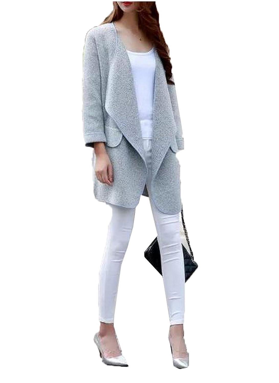 ForeverGod Womens Stylish Pockets Long Sleeve Knitting Tunic Top