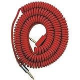 Vox VCC090RD - Cable jack a jack (9 m, en espiral, conector chapado en oro), color rojo