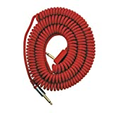 VOX VCC090RD Coiled Cable 29.5' with Mesh bag, Red