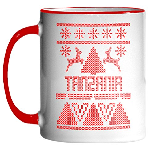 TANZANIA Ugly Sweater Christmas Holiday 11oz Coffee Mug (Tanzania Sweater)