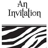 Animal Print Zebra Invitations Party Accessory, Health Care Stuffs