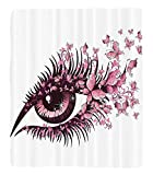 Chaoran 1 Fleece Blanket on Amazon Super Silky Soft All Season Super Plush Butterflies Decoration etFemale Eye With Butterflies Eyelashes Mascaratare Makeup Party Celebration Accessories Extralong