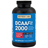 Fitness Labs BCAAFit 2000 - Branched Chain Amino Acids for Muscle Growth and Recovery* (400 Capsules)