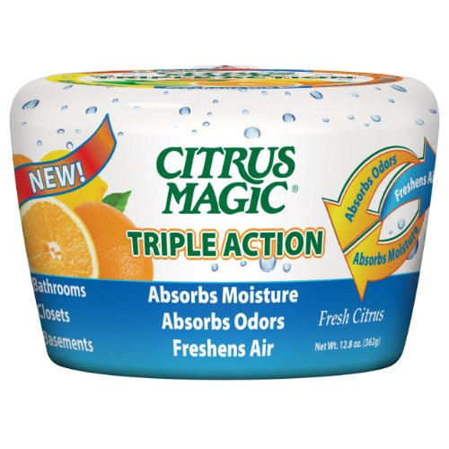 Citrus Magic 618372454 Triple Action Moisture and Odor Absorber Fresh Citrus, 12.8-Ounce ()