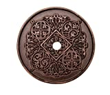 Carpe Diem Hardware Carpe Diem 307-22 Millennium Large round escutcheon Oil Rubbed Bronze Oil Rubbed Bronze