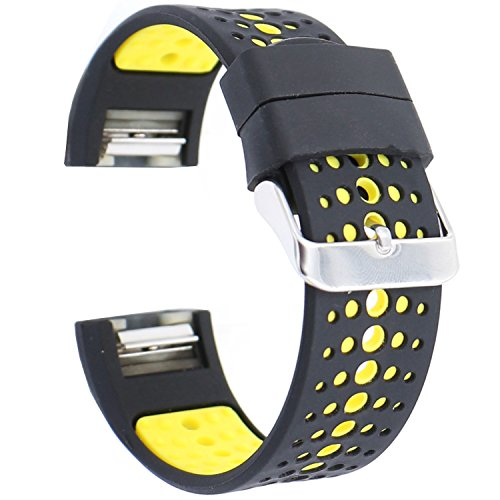 EL-move for Fitbit Charge Sport Bracelet Fitness Wristband Replacement Band for Fitbit Charge 2 Accessories Bands Strap (Black Yellow) For Sale
