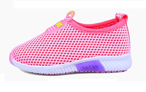 No brand Unisex - niños zapatos de gimnasia fucsia
