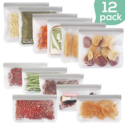 SPLF 12 Pack FDA Grade Reusable Storage Bags (6 Reusable