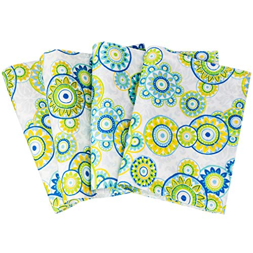 - Eforcurtain Cute Polka Dots Print Placemats Waterproof Polyester Fabric Table Mats 4 Packs, 13 Inch by 19 Inch, Lime Green