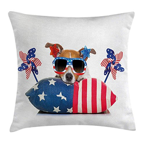 - GOOESING Corgi Sunglasses Pinwheel 4Th Of July American Flag Pattern Nice-Looking Flax Pillow Case/Pillow Cover 50% Cotton & 50% Polyester Size 20x20 Inches