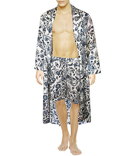 Armani International Gabriel Almondine Lounge Robe + Shorts Set, X-Large by Armani International