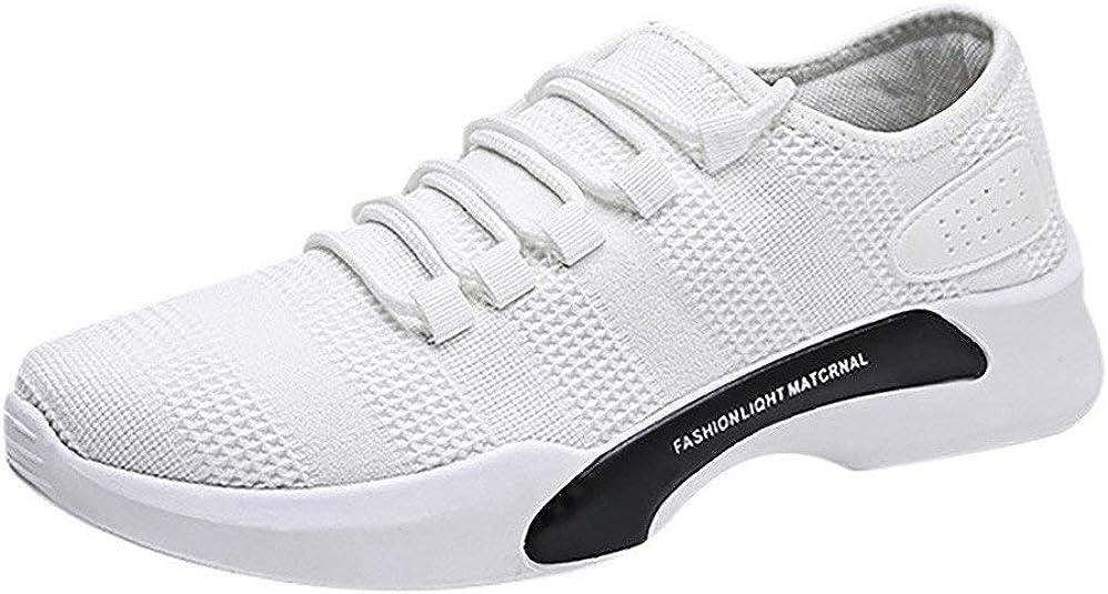 Zapatillas de Deportivos de Running para Hombre Calzados Casuales versátiles Color sólido Zapatillas Transpirables Blanco Zapatos Gimnasio Correr Sneakers Cómodo Verano 2019 Sports Shoes riou: Amazon.es: Zapatos y complementos