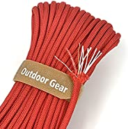 4-in-1 100ft 550 Paracord 550 Fire Cord with Fishing-line and fire-Starter Tinder Mil-Spec Type III Paracord 5