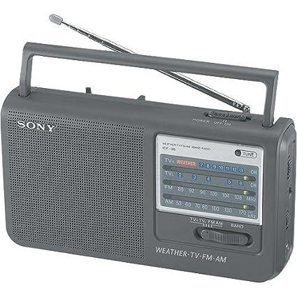 amazon com sony icf 36 portable am fm tv weather radio rh amazon com Sony Operating Manuals Sony User Manual Guide