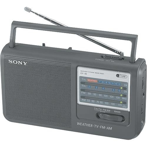 sony tv radio. amazon.com: sony icf-36 portable am/fm/tv/weather radio (discontinued by manufacturer): home audio \u0026 theater tv