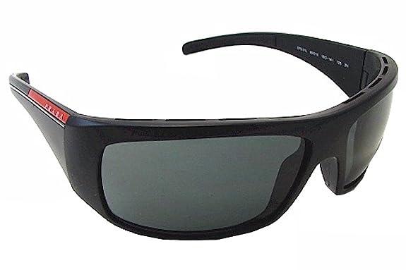 Amazon.com: Prada SPS 01L anteojos de sol sps01l Negro 1bo-1 ...