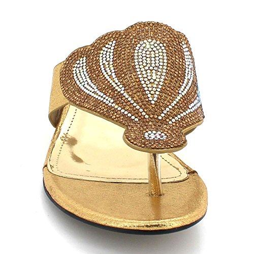Soir Bal Sandales Or Talon Fête Mariage Femmes De Le Dames des Bloquer Glisser Taille Diamante de Cristal mariée sur Chaussures xx8a6
