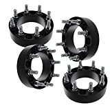 4 PCS 2'' 8x170 to 8x170 Black Wheel Spacers Adapters for Ford F250 F350 Super Duty Excursion Truck 14x1.5 Studs