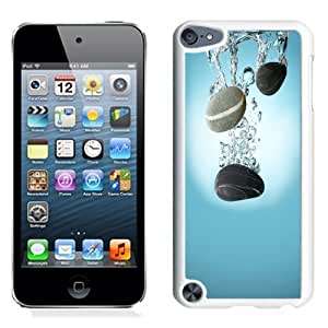 NEW Unique Custom Designed iPod Touch 5 Phone Case With Pebbles Water Drop Spash_White Phone Case