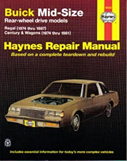 h19030 haynes buick mid size rwd 1974 1987 auto repair manual rh amazon com Product Factory Service Manuals Car Alarm Product Manuals