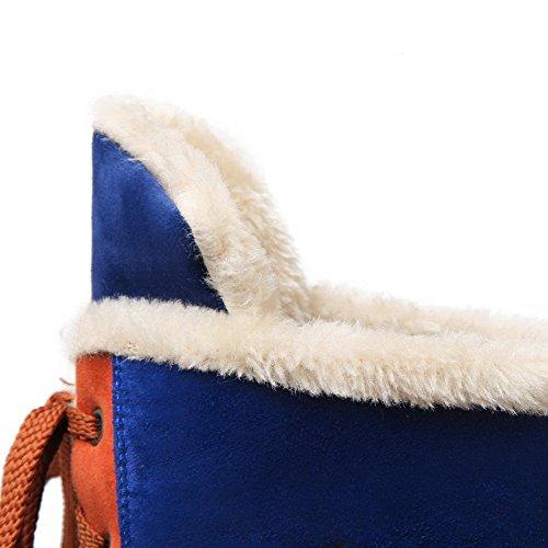Caña Mujeres VogueZone009 Redonda Mini Tacón Surtidos Esmerilado Baja Colores Azul Botas Puntera TqxCYF