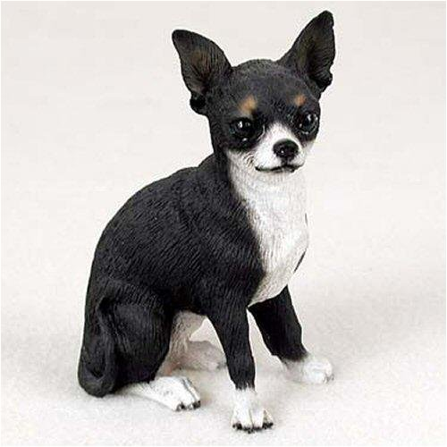 Chihuahua, Black/White Original Dog Figurine (4in-5in) ()