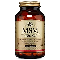 Solgar MSM Tablets, 1000 Mg, 120 Count