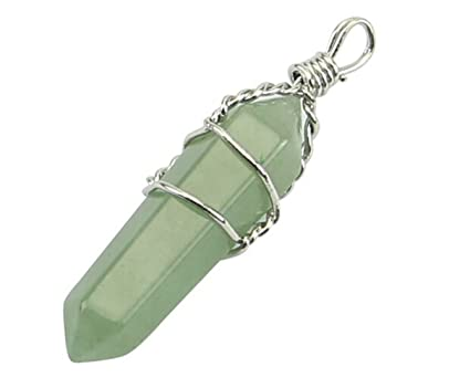 Amazon new fashion rock crystal healing point chakra quartz new fashion rock crystal healing point chakra quartz pendants for necklace jewelry mint green aloadofball Images