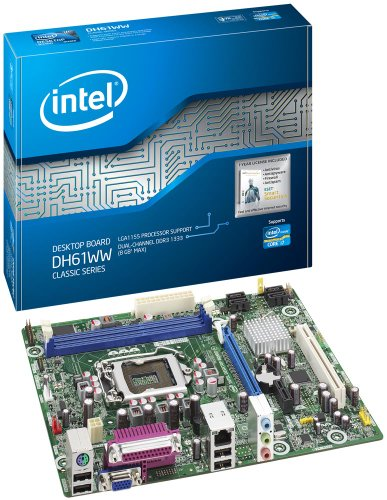 Boxed Intel Classic Series Intel H61 Micro ATX DDR3 1333 Motherboards BOXDH61WWB3 (Dh61ww Motherboard)