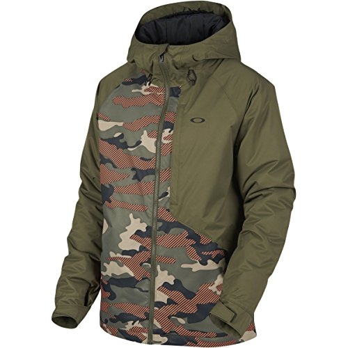 Oakley Snow Jacket (Oakley Marshall 10K Bzi Jacket, Warning Camo, Large)