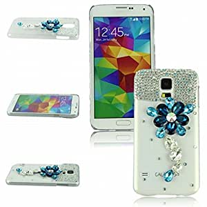 Voberry New Arrival Hot Selling Rhinestone Luxury Bling Crystal Hard Case Cover for Samsung Galaxy 5S i9600 (Galaxy S5 i9600-Crystal)