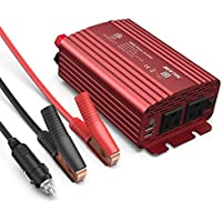 BESTEK 500W Power Inverter DC 12V to 110V AC Converter w/ Dual USB Car Charger