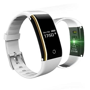 Fitness Tracker, Activity Tracker con pulsómetro, IP67, Resistente al Agua Bluetooth podómetro Asa