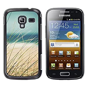 LECELL--Funda protectora / Cubierta / Piel For Samsung Galaxy Ace 2 I8160 Ace II X S7560M -- Grass Beach Sea Sand Summer View --