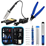 Anbes Soldering Iron Kit, [Upgraded] 60W Adjustable Temperature Welding Tool with ON-OFF Switch, 8-in-1 Screwdrivers, 2pcs Soldering...