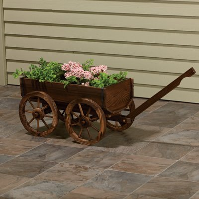 Wooden Planter Wagon, Model# XL103