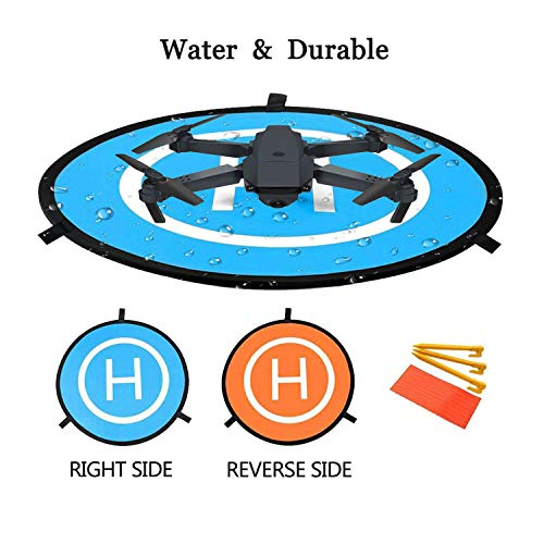 Drone Landing Pad, 22″/55cm Waterproof Portable Foldable Helipad Helicopter Landig Mat for DJI Mavic Pro Phantom 2/3/4/ Pro, RC Drones Helicopter, Karma Drone, DJI Mavic Air, Inspire and More