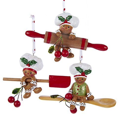 (Kurt Adler 4-Inch Gingerbread Baking Tool Ornaments)